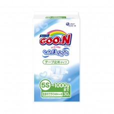 Подгузники GOO.N для маловесных новорожденных до 1 кг (р. SSSSS, на липучках, унисекс, 30 шт)